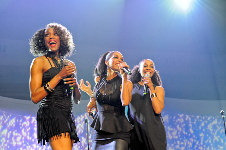 Rhona Bennett, Cindy Herron, and Terry Ellis of En Vogue perform onstage as part of '(Baby Got) Back to the 90's ' at the HEB Center on July 22, 2016 in Cedar Park, Texas. Photo © Manuel Nauta