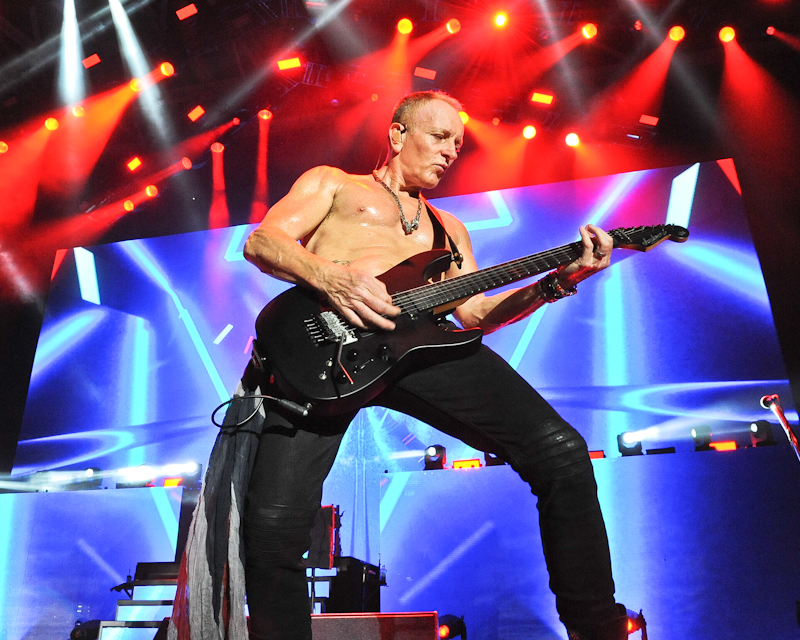Phil Collen of the band Def Leppard performs in concert at Austin 360 Amphitheater on August 19, 2016 in Austin, Texas. Photo © Manuel Nauta