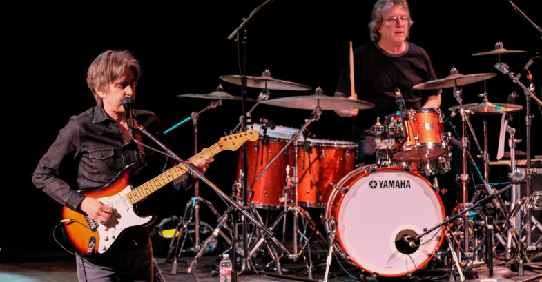 Eric Johnson (L) and Tom Brechtline (R) perform in concert on the 2020 tour Classics: Present and Past at The Aztec Theatre on January 30, 2020 in San Antonio, Texas. Photo © Manuel Nauta
