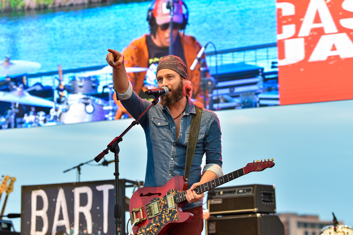 Casey James performs in concert during the River and Blues Festival at the Panther Island Pavilion in Fort Worth Texas on November 14, 2020. Photo © Manuel Nauta
