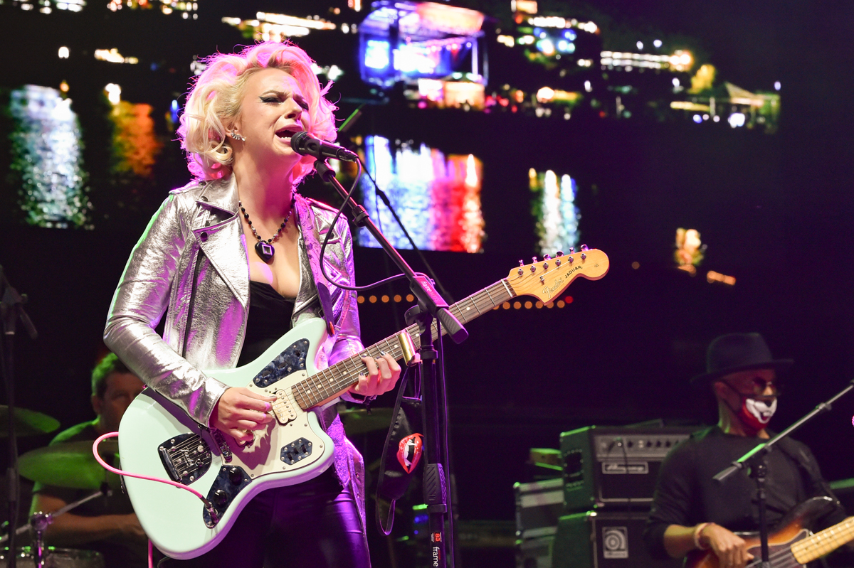 Samantha Fish performs in concert during the River and Blues Festival at the Panther Island Pavilion in Fort Worth Texas on November 14, 2020. Photo © Manuel Nauta