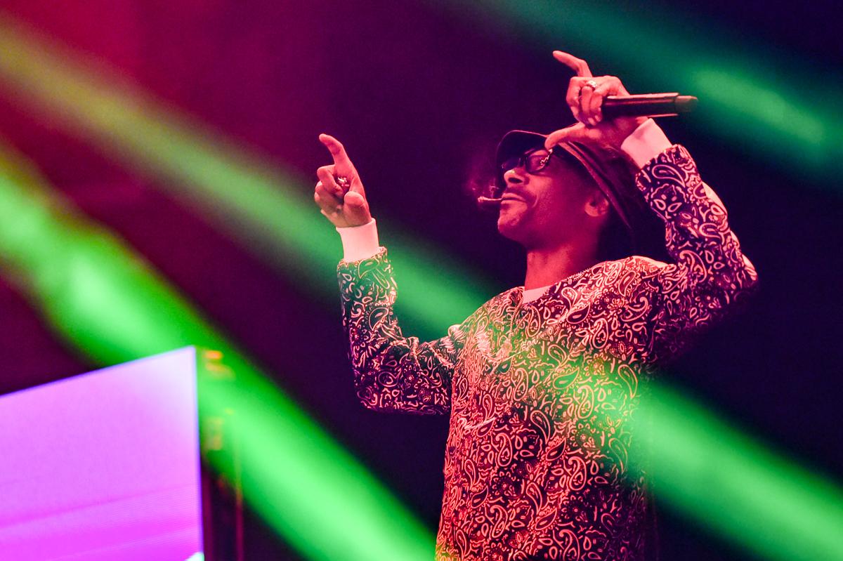 "CEDAR PARK, TEXAS - JULY 01: Rapper Snoop Dogg performs in concert during ""Snoop Dogg VS DJ Snoopadelic"" at the H-E-B Center on July 01, 2021 in Cedar Park, Texas."