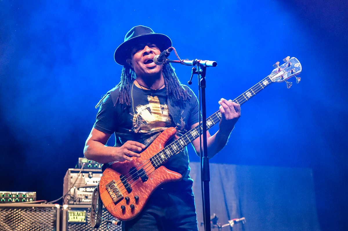 CEDAR PARK, TEXAS - JULY 11: Doug Wimbish of Living Colour performs in concert during the Summerland Tour at the HEB Center on July 11, 2021 in Cedar Park, Texas. Photo © Manuel Nauta