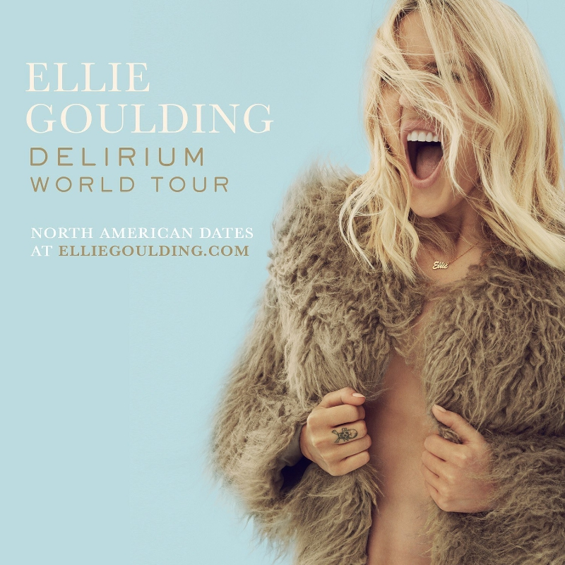Ellie Goulding Announces Dates For The North American Leg Of Her Delirium World Tour (PRNewsFoto/Interscope Records)