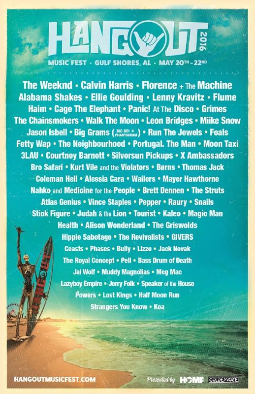 Hangout Music Festival 2016 Line Up