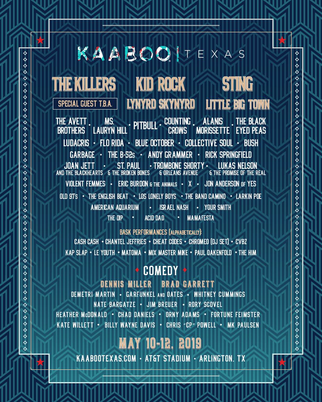 KABOO Festival 2019 Texas
