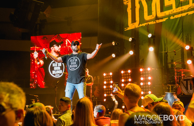 Tyler Farr in concert at H-E-B Center on Friday August 2016 in Cedar Park Texas. Photo © Maggie Boyd