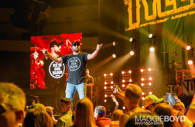 Tyler Farr in concert at H-E-B Center on Friday August 2016 in Cedar Park Texas. Photo © Maggie Boyd
