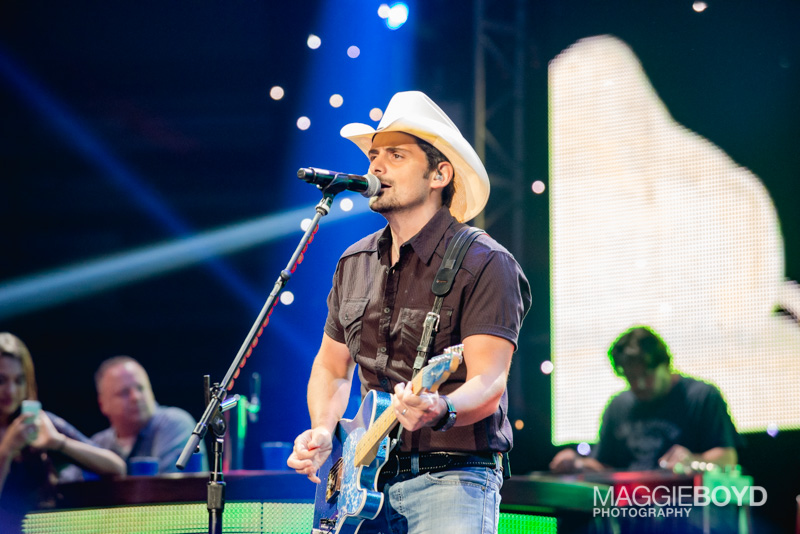 Brad Paisley in concert at H-E-B Center on Friday August 2016 in Cedar Park Texas. Photo © Maggie Boyd