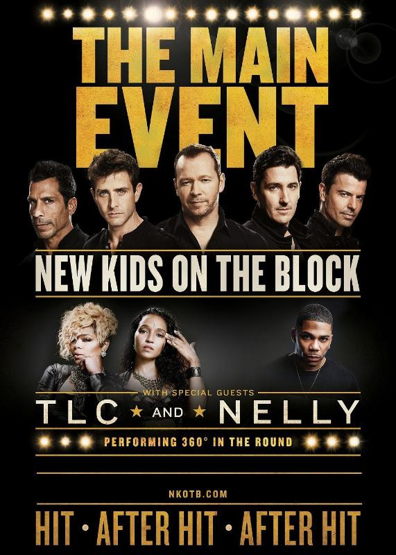 NEW KIDS ON THE BLOCK ANNOUNCE THE MAIN EVENT TOUR WITH SPECIAL GUESTS TLC AND NELLY (PRNewsFoto/Live Nation Entertainment)