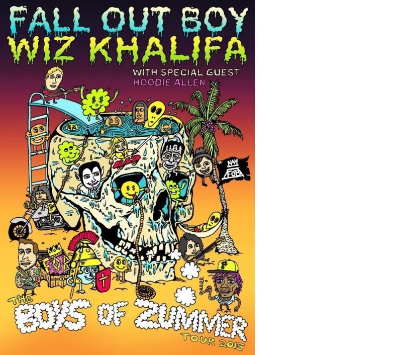 Fall Out Boy and Wiz Khalifa Announce the Boys of Zummer Tour (PRNewsFoto/Live Nation Entertainment)